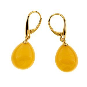 Unique Earrings with Butterscotch Baltic Amber